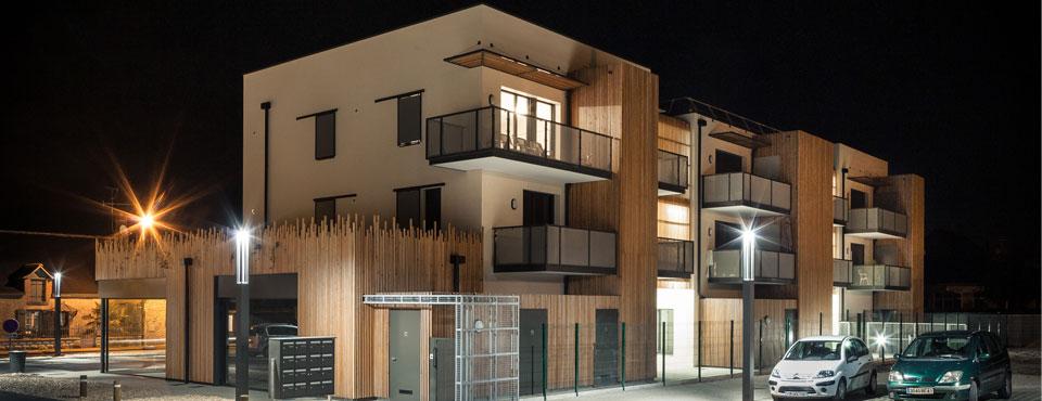 Construction d'un immeuble de 8 logements et de 7 cellules commerciales