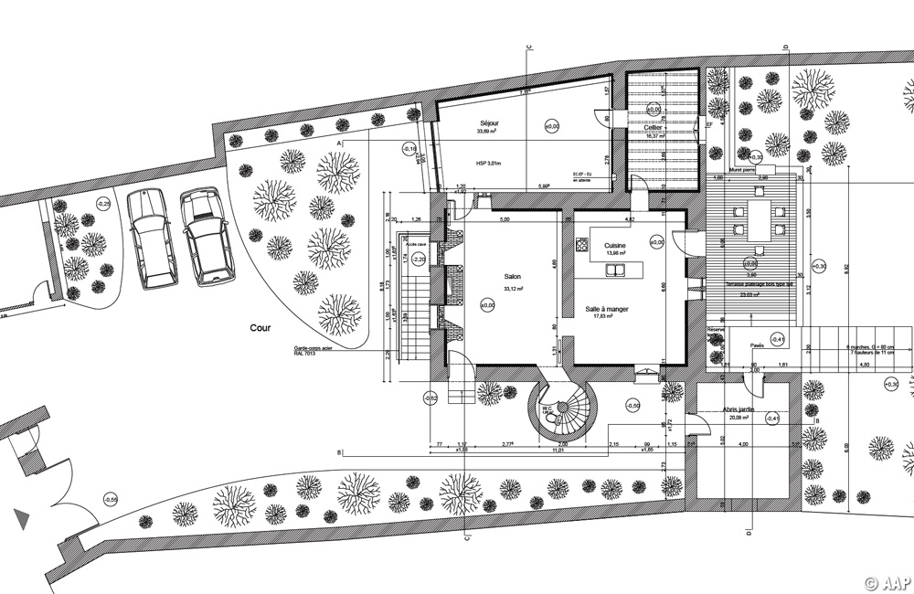 Plan d'ensemble du rez-de-chaussée - Etat projeté