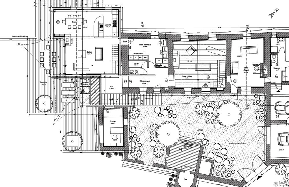 Plan du rez-de-chaussée - Etat projeté