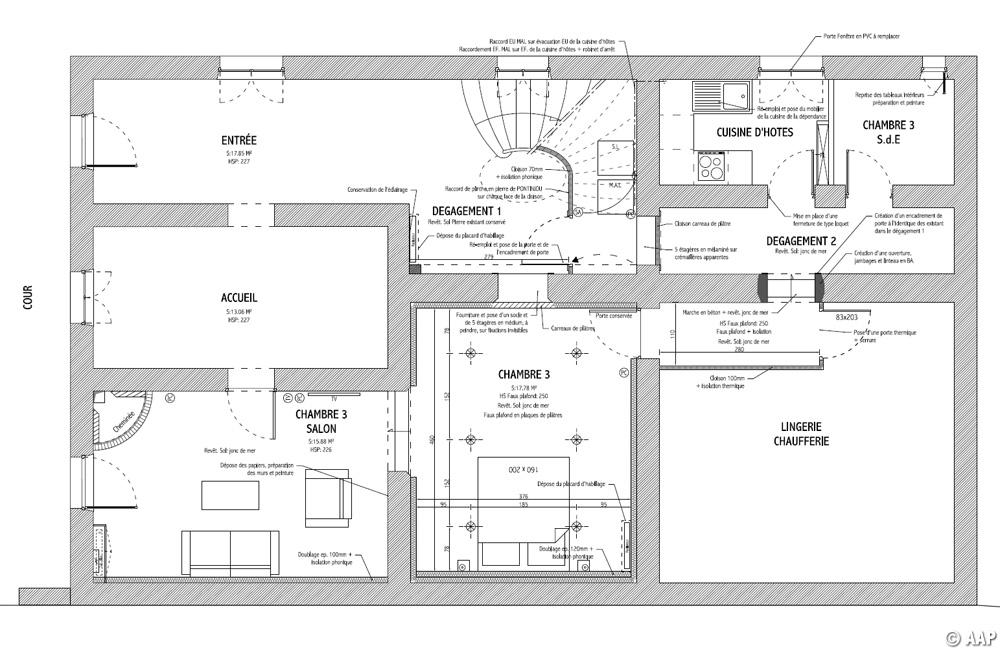 L 39 atelier architectures et paysages chambres d h tes mer for Creation de plan de maison